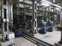 Bomba de agua del motor eléctrico bajo reparación en la central eléctrica imágenes de archivo libres de regalías