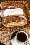 Bomba de chocolate. A Brazilian traditional eclair Stock Photography