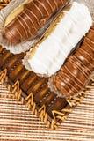 Bomba de chocolate. A Brazilian traditional eclair Royalty Free Stock Image