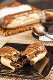 Bomba de chocolate. A Brazilian traditional eclair Stock Images