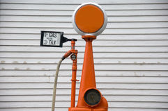 Bomba de gás antiquado Fotografia de Stock