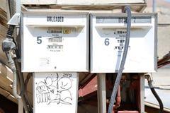 Bomba de gas vieja fotos de archivo libres de regalías