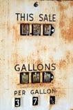 Bomba de gasolina de la vendimia fotografía de archivo libre de regalías