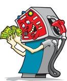 Bomba de gasolina ávida Imagens de Stock Royalty Free
