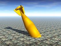 BOMBA DE LA CRISIS FINANCIERA Imágenes de archivo libres de regalías