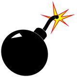 Bomba de la historieta en blanco Imagenes de archivo