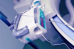 Bomba de la jeringuilla. El símbolo del equipamiento médico fotografía de archivo libre de regalías