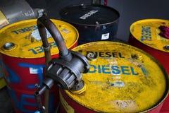 Bomba de mano del aceite Fotografía de archivo