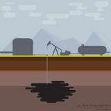 Bomba de petróleo ilustração stock