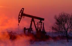 Bomba de petróleo Foto de archivo libre de regalías