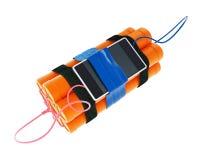 Bomba de relojería del teléfono móvil de la dinamita ilustración del vector