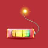 Bomba de relojería Logo Symbol de la batería Fotos de archivo libres de regalías