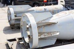 Bomba de uso geral dos aviões de Hoge Arma alto-explosiva do aierail o mais grande na terra Conceito da raça de armamentos da gue imagens de stock royalty free