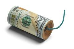 Bomba dei soldi Fotografie Stock Libere da Diritti