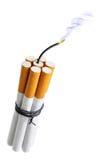 Bomba del cigarrillo Fotografía de archivo libre de regalías