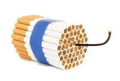 Bomba del cigarrillo Imagen de archivo libre de regalías