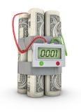 Bomba del dollaro Fotografia Stock Libera da Diritti
