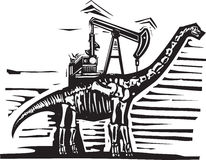 Bomba del pozo de petróleo del Brontosaurus Fotografía de archivo libre de regalías