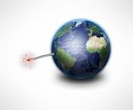 Bomba della terra Fotografia Stock Libera da Diritti