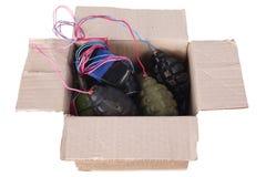 Bomba di lettera IED - dispositivo esplosivo improvvisato in cassetta delle lettere fotografia stock libera da diritti