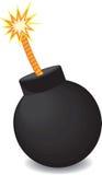 Bomba di vettore con fuoco Fotografia Stock