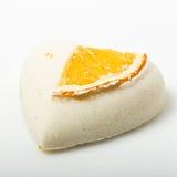 A bomba do banho de sal decorou a laranja fotos de stock