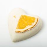 A bomba do banho de sal decorou a laranja imagem de stock