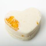 A bomba do banho de sal decorou a laranja fotografia de stock