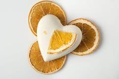 A bomba do banho de sal decorou a laranja imagem de stock royalty free