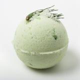 Bomba do banho do eucalipto em um branco Fotografia de Stock Royalty Free
