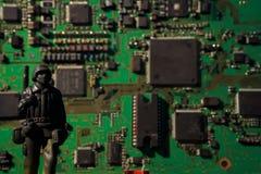 Bomba do computador do conceito do terrorismo do Cyber Fotografia de Stock
