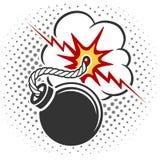Bomba do estilo do pop art Imagens de Stock