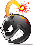 Bomba do mal dos desenhos animados Imagens de Stock Royalty Free