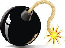 Bomba dos desenhos animados Foto de Stock Royalty Free