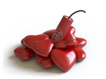 Bomba e corações Foto de Stock