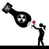 Bomba e ragazza royalty illustrazione gratis