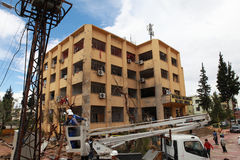 BOMBA EN REYHANL?, HATAY foto de archivo