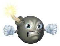 Bomba enojada de la historieta ilustración del vector