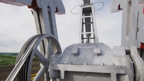 Bomba enorme Jack Working Mechanism en Derrick Closeup metrajes