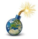 Bomba financiera de Europa Fotografía de archivo libre de regalías