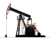 Bomba isolada do poço de petróleo Fotografia de Stock Royalty Free