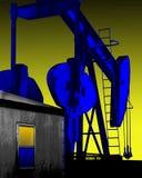 Bomba Jack do poço de petróleo Imagens de Stock