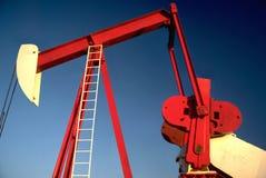 Bomba Jack do poço de petróleo Imagem de Stock Royalty Free