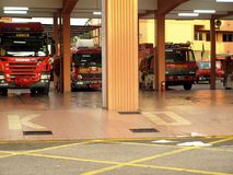 Fire rescue Melaka. Fire rescue - Trak api bomba in Melaka city Stock Image