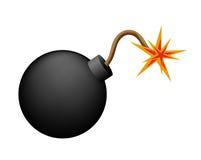 Bomba na biel Zdjęcia Stock