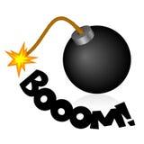 Bomba de la historieta Imagenes de archivo