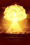 Bomba nuclear stock de ilustración