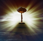 Bomba nuclear Fotografia de Stock