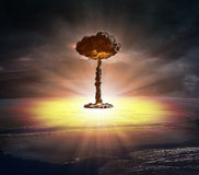 Bomba nucleare Immagini Stock Libere da Diritti