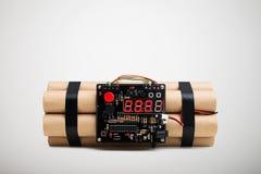 Bomba odizolowywająca na bielu Fotografia Stock